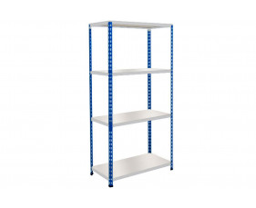 Rapid 2 Shelving With 4 Melamine Shelves 1220wx1600h (Blue/Grey)