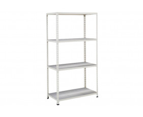 Rapid 2 Shelving With 4 Galvanized Shelves 1220wx1600h (Grey)