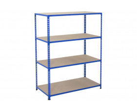 Rapid 2 Shelving With 4 Chipboard Shelves 1525wx1600h (Blue)
