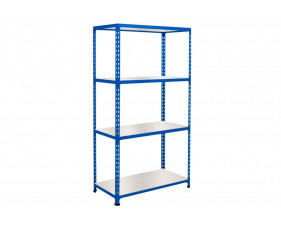Rapid 2 Shelving With 4 Melamine Shelves 1525wx1600h (Blue)
