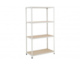 Rapid 2 Shelving With 4 Chipboard Shelves 1525wx1600h (Grey)