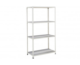 Rapid 2 Shelving With 4 Galvanized Shelves 1525wx1600h (Grey)