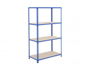 Rapid 2 Shelving With 4 Chipboard Shelves 915wx1980h (Blue)