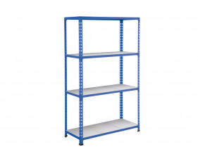 Rapid 2 Shelving With 4 Galvanized Shelves 915wx1980h (Blue)