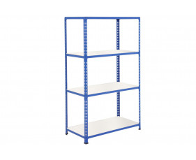 Rapid 2 Shelving With 4 Melamine Shelves 915wx1980h (Blue)