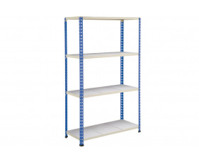 Rapid 2 Shelving With 4 Galvanized Shelves 915wx1980h (Blue/Grey)
