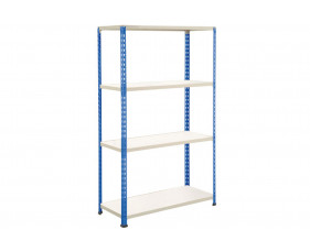 Rapid 2 Shelving With 4 Melamine Shelves 915wx1980h (Blue/Grey)