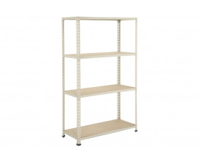 Rapid 2 Shelving With 4 Chipboard Shelves 915wx1980h (Grey)