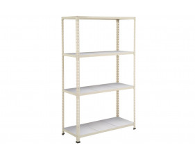 Rapid 2 Shelving With 4 Galvanized Shelves 915wx1980h (Grey)