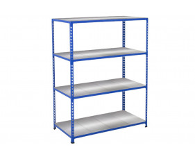 Rapid 2 Shelving With 4 Galvanized Shelves 1220wx1980h (Blue)