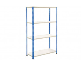 Rapid 2 Shelving With 4 Melamine Shelves 1220wx1980h (Blue/Grey)