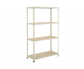 Rapid 2 Shelving With 4 Chipboard Shelves 1220wx1980h (Grey)