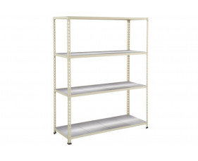 Rapid 2 Shelving With 4 Galvanized Shelves 1220wx1980h (Grey)