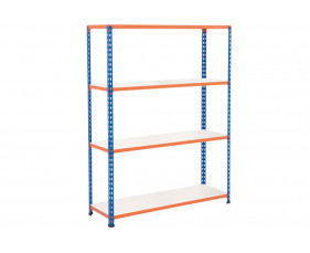 Rapid 2 Shelving With 4 Melamine Shelves 1220wx1980h (Blue/Orange)