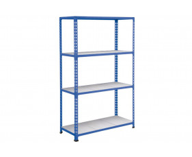 Rapid 2 Shelving With 4 Galvanized Shelves 1525wx1980h (Blue)