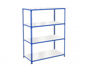 Rapid 2 Shelving With 4 Melamine Shelves 1525wx1980h (Blue)