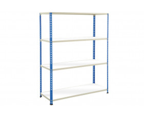 Rapid 2 Shelving With 4 Melamine Shelves 1525wx1980h (Blue/Grey)