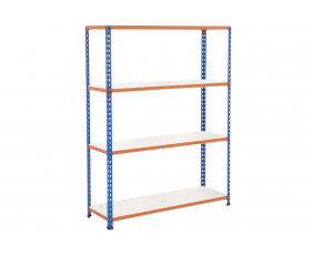 Rapid 2 Shelving With 4 Melamine Shelves 1525wx1980h (Blue/Orange)