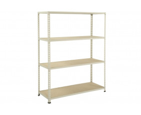 Rapid 2 Shelving With 4 Chipboard Shelves 1525wx1980h (Grey)