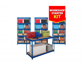 Budget Shelving Bundle Deal With 3 Shelving Bays And 1 Workbench