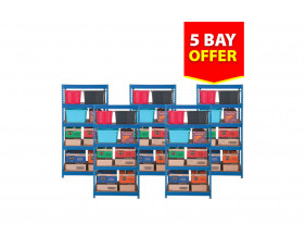 Budget Shelving 5 Bay Bundle Deal