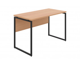 Shen Home Office Desk With Square Leg And Modesty Panel (Black Frame)