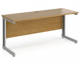 All Oak Deluxe Narrow Rectangular Desk