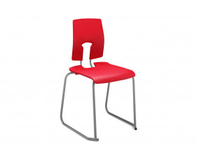 Hille SE Ergonomic Skid Base Classroom Chair
