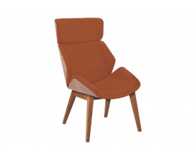 Alba Chair With 4 Wooden Legs & Outer Back
