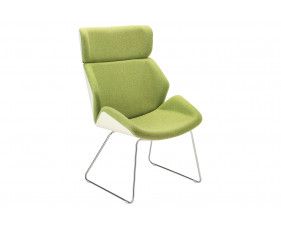 Alba Chair With Sled Frame & Outer Back
