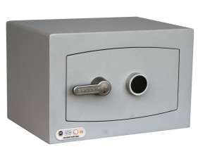 Securikey Mini Vault Silver Cash Safe Size 0 With Key Lock (18ltrs)
