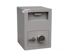 Securikey Mini Vault Silver Size 2 Deposit Safe With Electronic Lock (34ltrs)