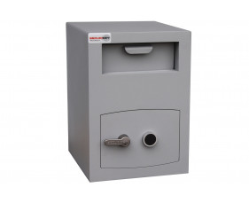 Securikey Mini Vault Silver Size 2 Deposit Safe With Key Lock (34ltrs)