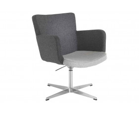 Garza Visitor Chair With Chrome Swivel Base