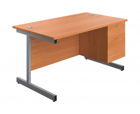 Proteus I Clerical Desk With 2 Drawers