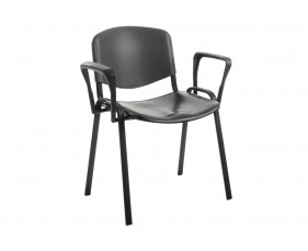 Pack Of 4 Plastic Conference Chairs With Arms