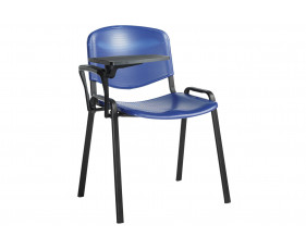 Pack Of 4 Plastic Conference Chairs With Writing Tablet