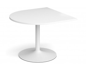 All White Premium Trumpet Base Radial Extension Table