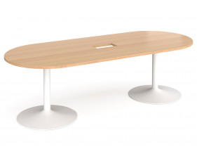 Sassoon Power Ready Radial End Boardroom Table