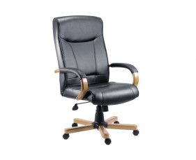 Knightsbridge Executive Chair Oak/Black