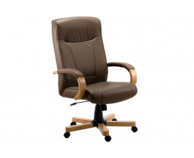 Knightsbridge Executive Chair Oak/Brown