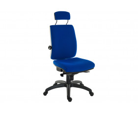 Baron 24hr ergonomic chair with headrest (fabric)
