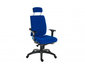 Baron 24HR Ergonomic Armchair With Headrest (Fabric)