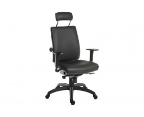 Baron 24hr ergonomic armchair with headrest (PU)