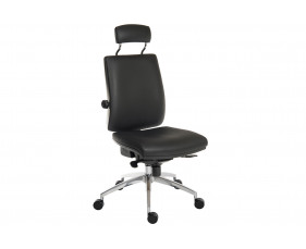 Baron Deluxe 24HR Ergonomic Chair With Headrest (PU)
