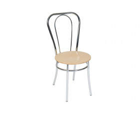 Pack Of 4 Degas Chrome Frame Bistro Chairs