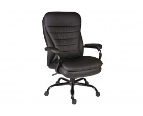 Colossal Leather Faced Executive Black Chair