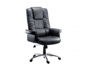 Roma Black Leather Faced Executive Chair
