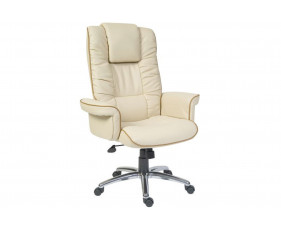 Roma Cream Bonded Leather Executive Chair