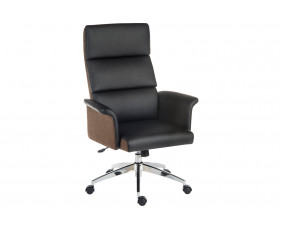 Panache High Back Executive Leather Look Chair Black